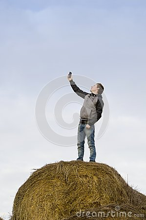 Man catch mobile signal