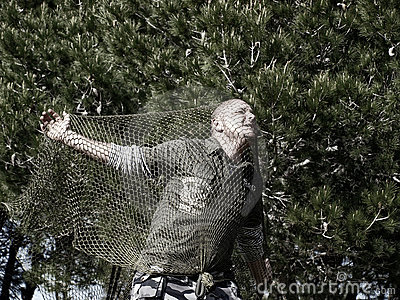 Man Caught in Net