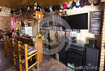 Man cave or bar area