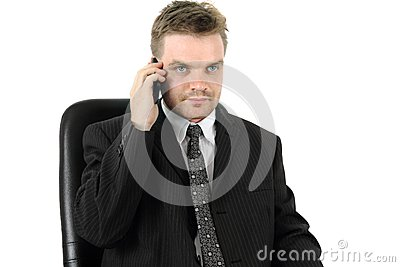 Man and cell phone