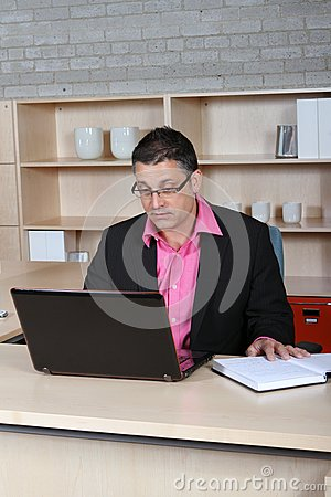 Man checking his email