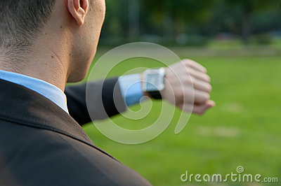 Man checking the time
