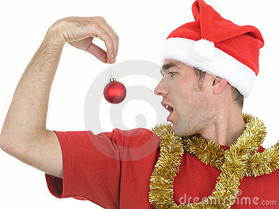 Man With Christmas Ornament