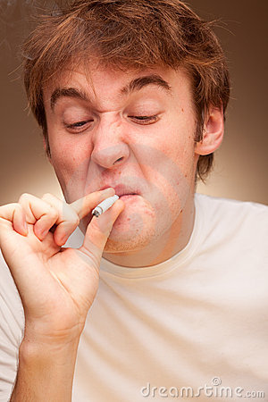 Man With A Cigarette Stock Image - Image: 12227171