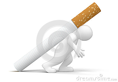 Man with Cigarette (clipping path included)
