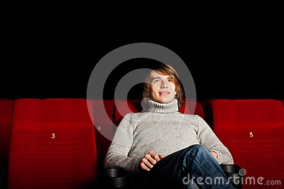 Man in the cinema