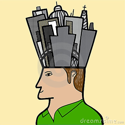 A man with a city in his head