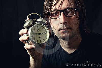 Man with the clock