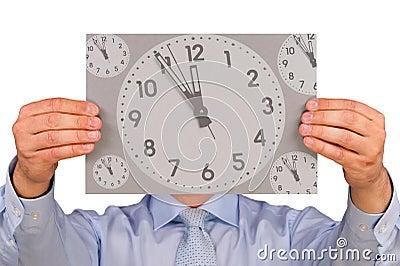 Man with Clock Face
