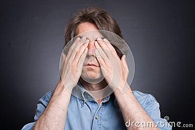 Man closed his eyes