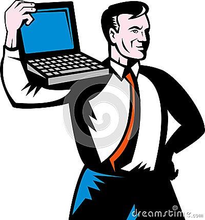 Man computer notebook laptop