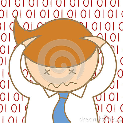 Man confusing information data