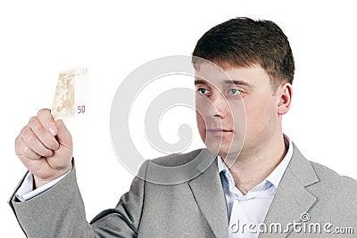 Man considers money