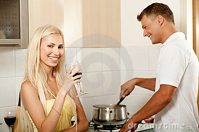Man cooking and smiling