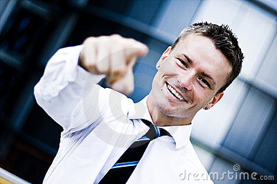 Man In A Corporate Attire Pointing At You