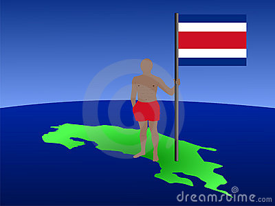 Man with Costa Rican flag