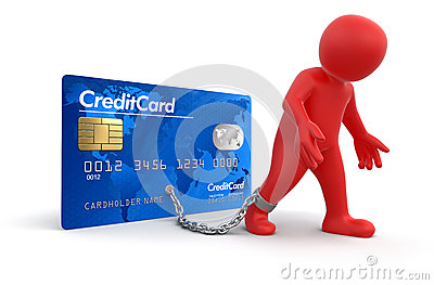 Man and Credit Card (clipping path included)