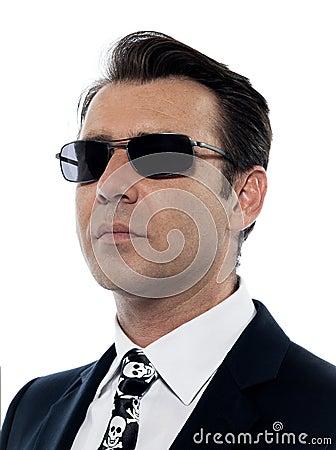 Man criminal portrait white collar crime
