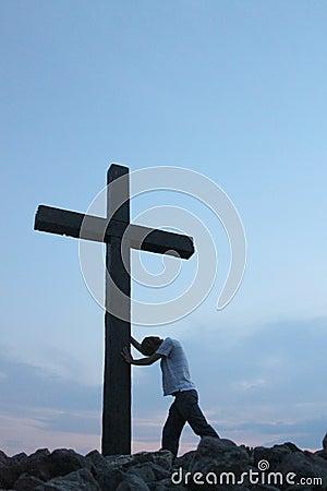 Man at the cross 1