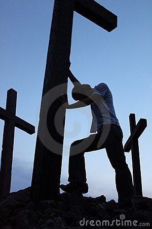 Man at the cross 2