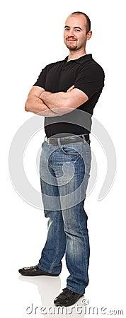 Man crossed arms