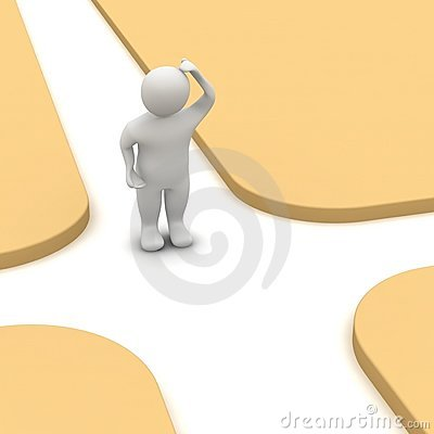 Man And Crossroad Stock Photos - Image: 14291993