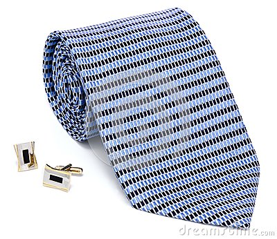 Man cuff links and tie