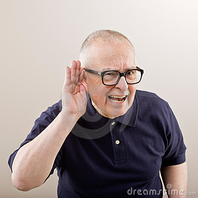 Free Man Cupping His Ear Stock Images - 6599344