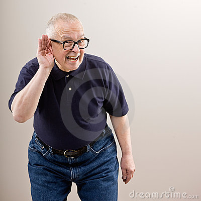 Free Man Cupping His Ear Royalty Free Stock Photography - 6599347