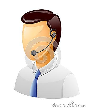 Man Customer support icon