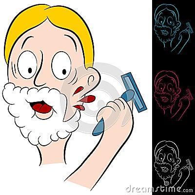 Man Cuts Himself Shaving Stock Photos Image 25752203