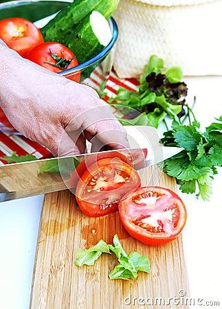 for summer vegetable salad Man's