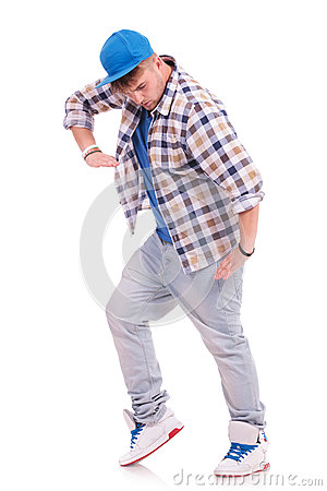 Man in dance pose