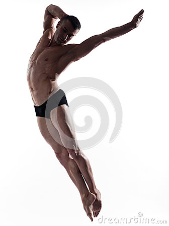 Man dancer gymnastic jump