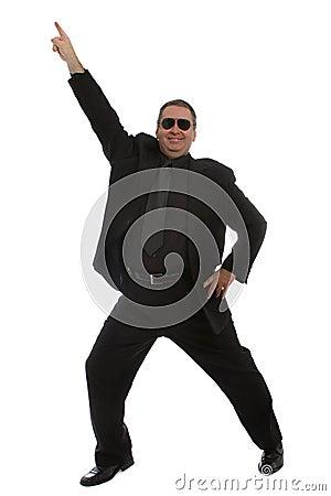 Man dancing at the club