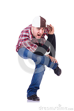 Man dancing modern dances