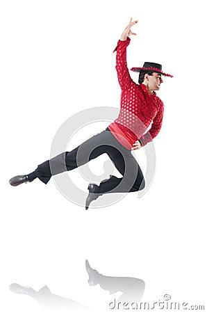 Man dancing spanish dances