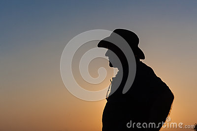 Man Body Hat Outline Silhouette