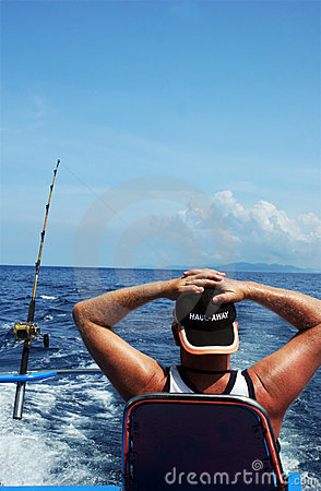 Free Man Deep Sea Fishing Stock Image - 1390991