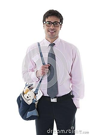 Man with diaper bag