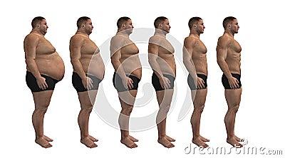 Man diets, fitness design