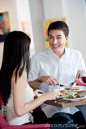 Man Dining with Partner