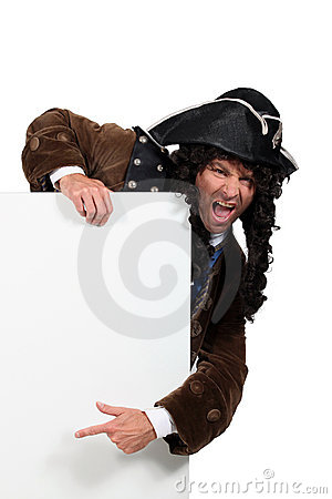 Man disguised as a pirate