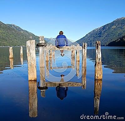 Man on a dock