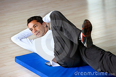 Man doing abs