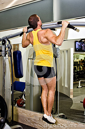 Man doing athlete exercise