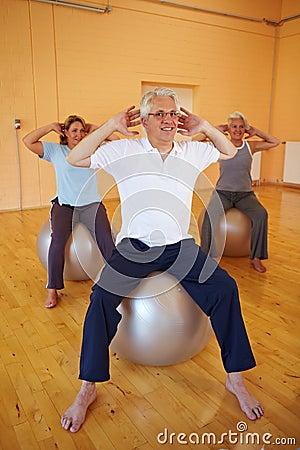 Man doing back exercises