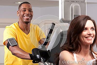 Man doing cardio