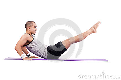 Man doing exercises