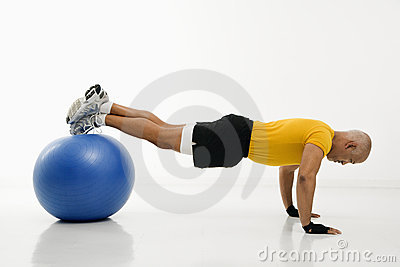 Man doing pushups.